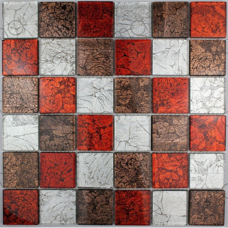 carreaux de mosaique en verre modele mv luxrouge carrelage. Black Bedroom Furniture Sets. Home Design Ideas