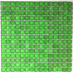crédence verre, mosaïque verre douche crystal-vert