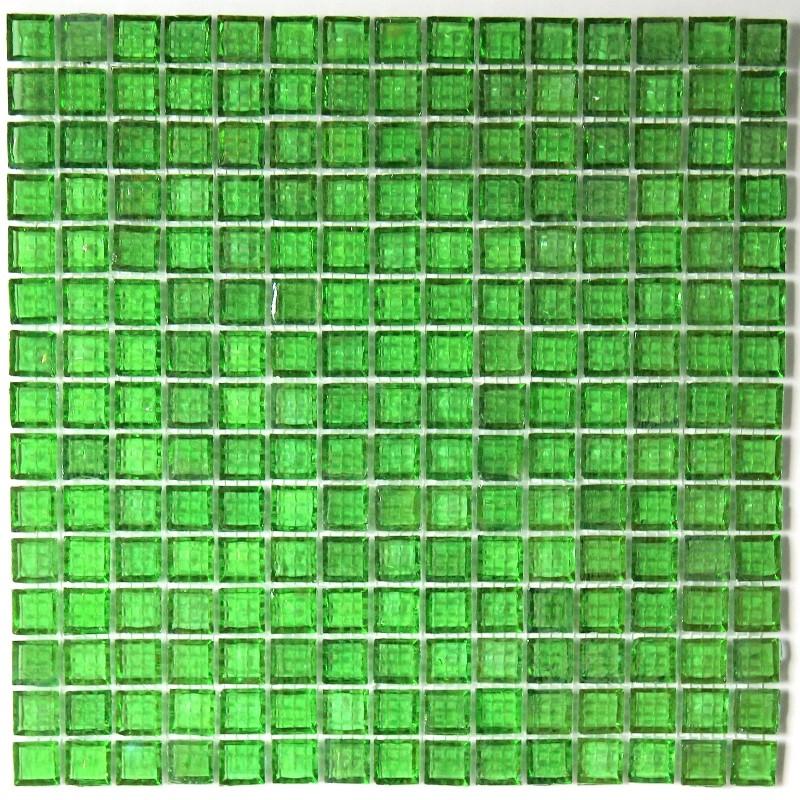 Cr dence verre mosa que verre douche crystal vert - Mosaique de verre autocollante ...