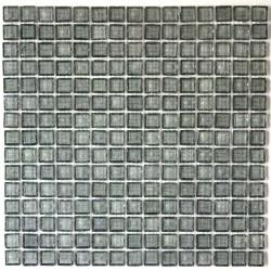 crédence verre, mosaïque verre douche crystal-gris