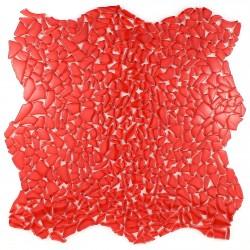 mosaïque verre salle de bain piscine hammam osmose rouge