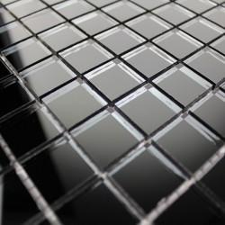 mosaïque verre salle de bain piscine hammam reflect noir