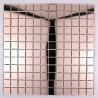 mosaïque verre salle de bain piscine hammam reflect rose