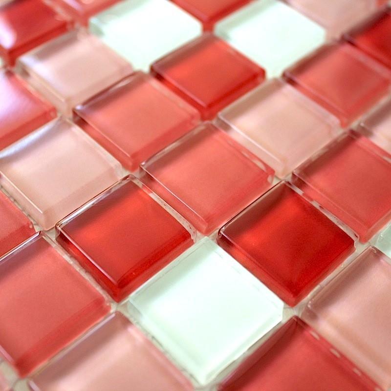 Mosaique verre cr dence cuisine verre mosa que douche for Carrelage mosaique inox cuisine