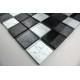 mosaïque verre salle de bain piscine hammam lux noir 48