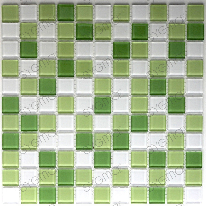mosaique verre cr dence cuisine verre mosa que douche vert mix. Black Bedroom Furniture Sets. Home Design Ideas