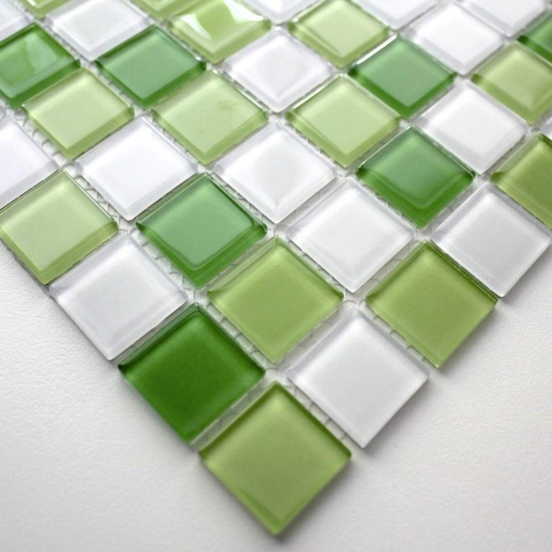 Mosaique verre cr dence cuisine verre mosa que douche for Pose de mosaique de verre