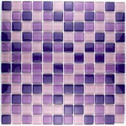 mosaïque verre salle de bain piscine hammam lila 23