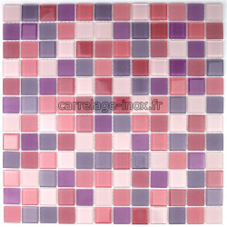 mosaic glass bath swimming pool hammam purple-mix