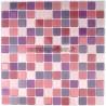 mosaïque verre salle de bain piscine hammam mauve-mix