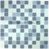 mosaïque verre douche salle de bain crédence cuisine mat gris
