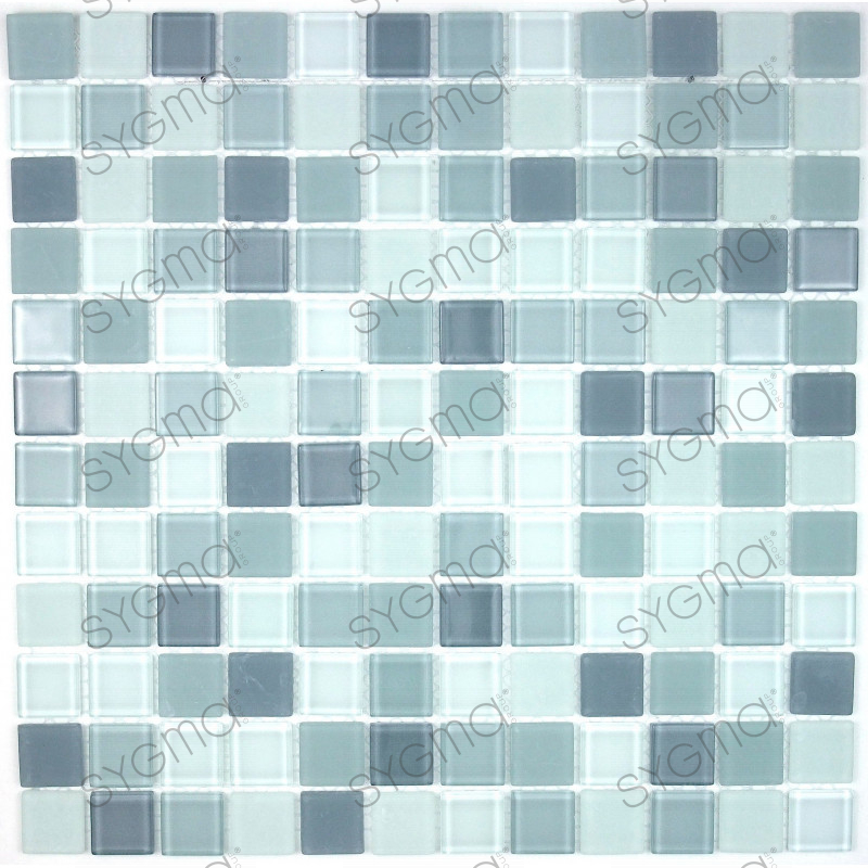 mosaique verre cr dence cuisine verre mosa que douche gris mix. Black Bedroom Furniture Sets. Home Design Ideas