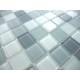 mosaïque verre douche salle de bain crédence cuisine gris mix