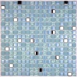 crédence verre, mosaïque verre douche harris-bleu