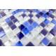 mosaïque verre douche salle de bain crédence cuisine iris