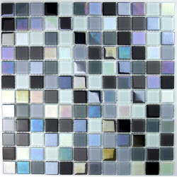 mosaic glass bath swimming pool hammam black iridescent