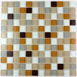 mosaic glass shower bathroom splashback kitchen honey