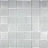 mosaïque verre douche salle de bain crédence cuisine mat blanc 48