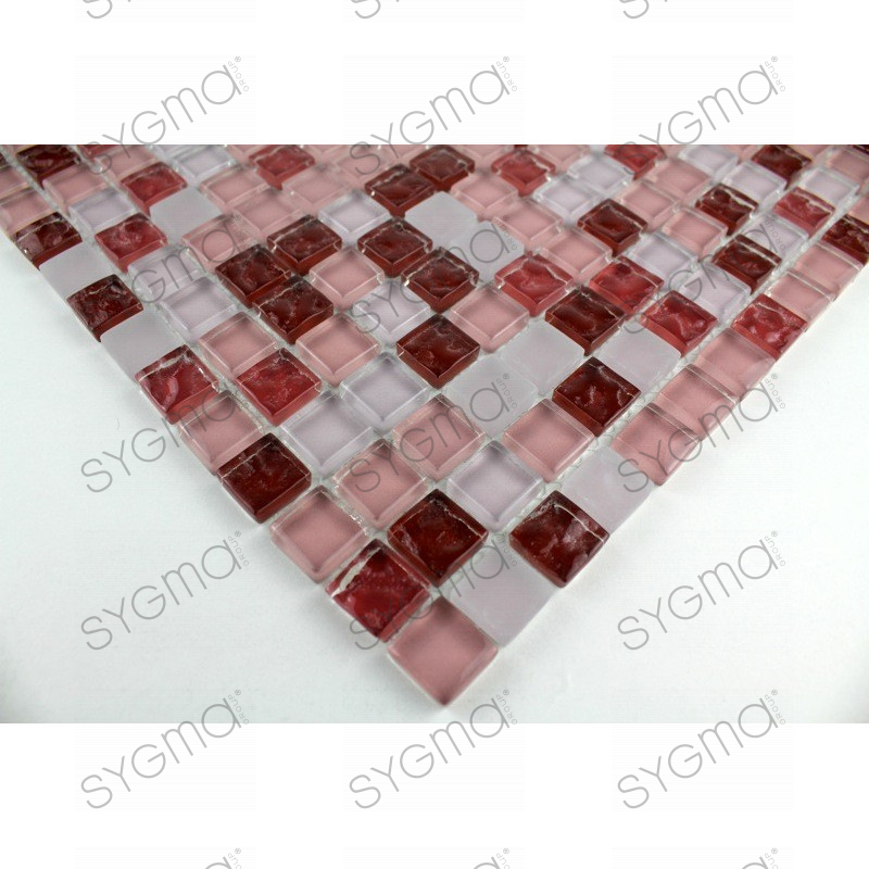 Mosaique verre cr dence cuisine verre mosa que douche for Credence cuisine verre rouge