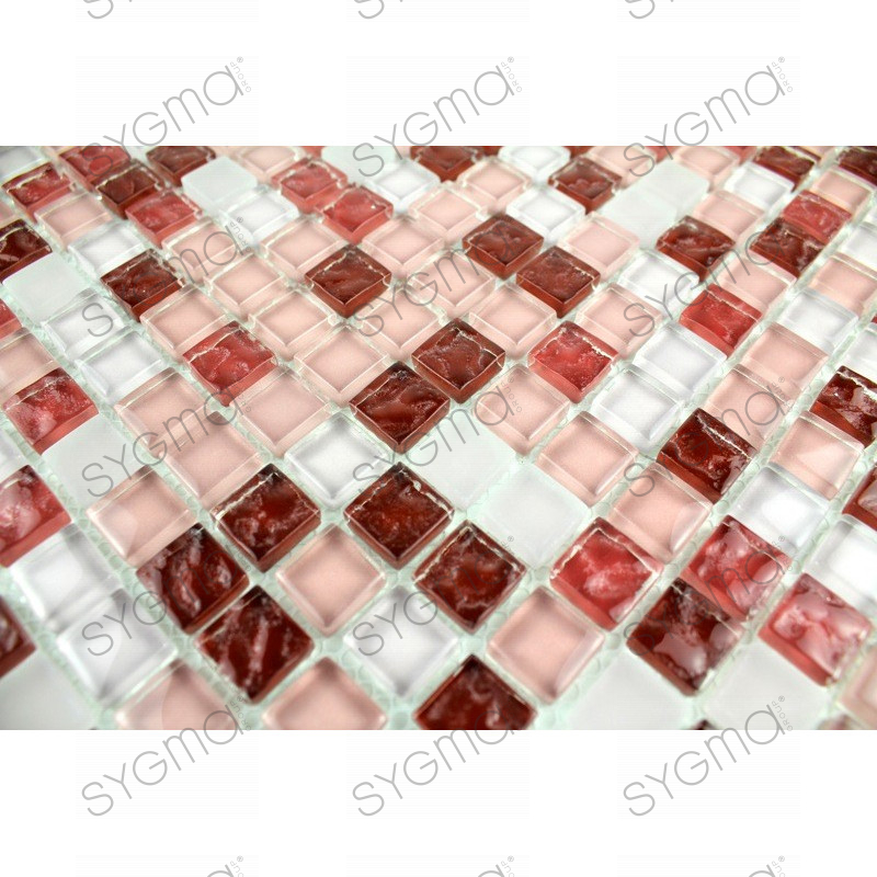 mosaique verre cr dence cuisine verre mosa que douche opus rouge. Black Bedroom Furniture Sets. Home Design Ideas