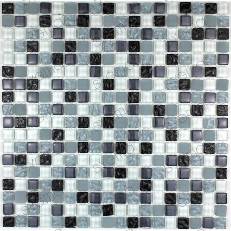 Glassmosaic floor and wall opus noir carrelage for Carrelage inox fr