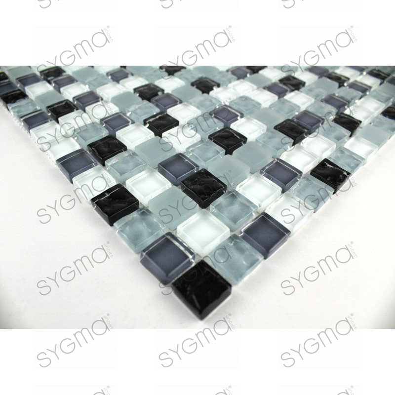 Glassmosaic floor and wall opus noir carrelage for Carrelage noir