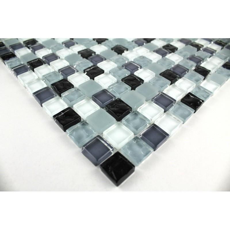 Mosaique salledebain sol et mur opus noir carrelage - Sol mosaique salle de bain ...