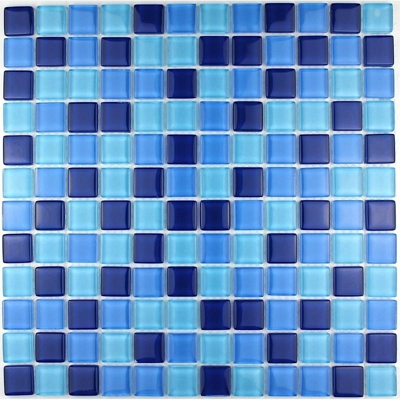 Mosaique verre cr dence cuisine verre mosa que douche sky - Credence verre salle de bain ...