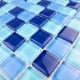 mosaïque verre douche salle de bain crédence cuisine sky23