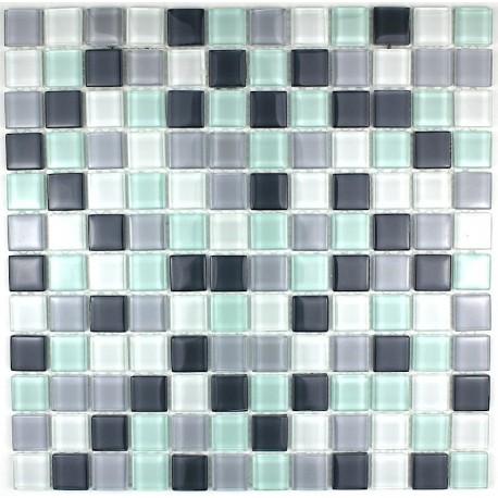 mosaïque verre douche salle de bain crédence cuisine pinchard