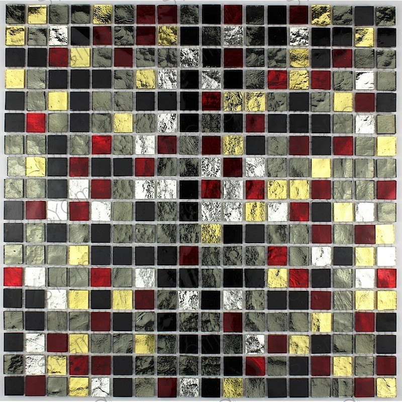 Mosaique verre cr dence cuisine verre mosa que douche gloss dium - Credence cuisine verre ...
