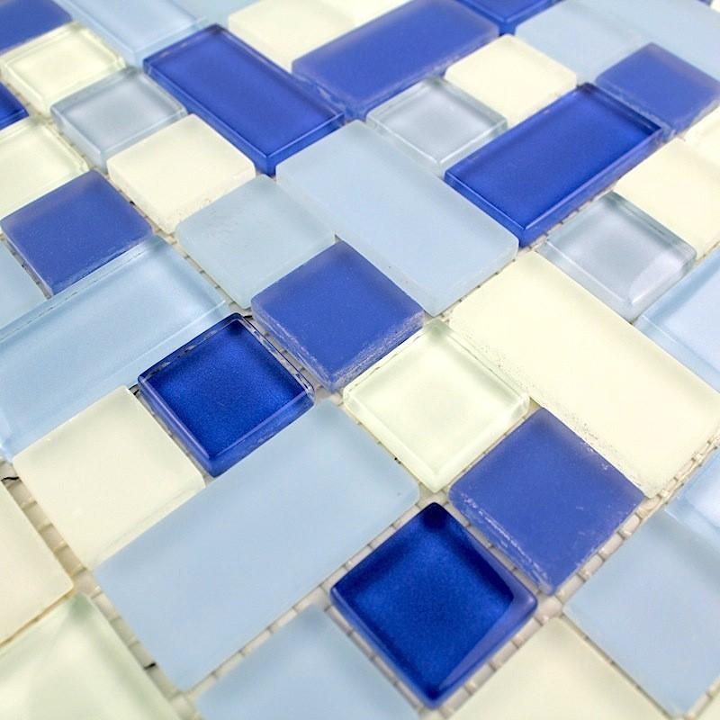 Mosaico vidrio precio ducha y ba o cubic bleu carrelage for Mosaico para bano precios