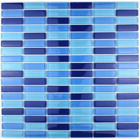 dalle mosaïque verre crédence cuisine sky rectangular