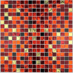 azulejo de mosaico de vidrio cocina bano gloss-chikStrass Chika