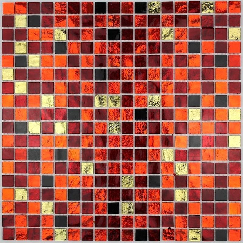 Azulejo de mosaico de vidrio cocina bano gloss chika for Azulejo mosaico