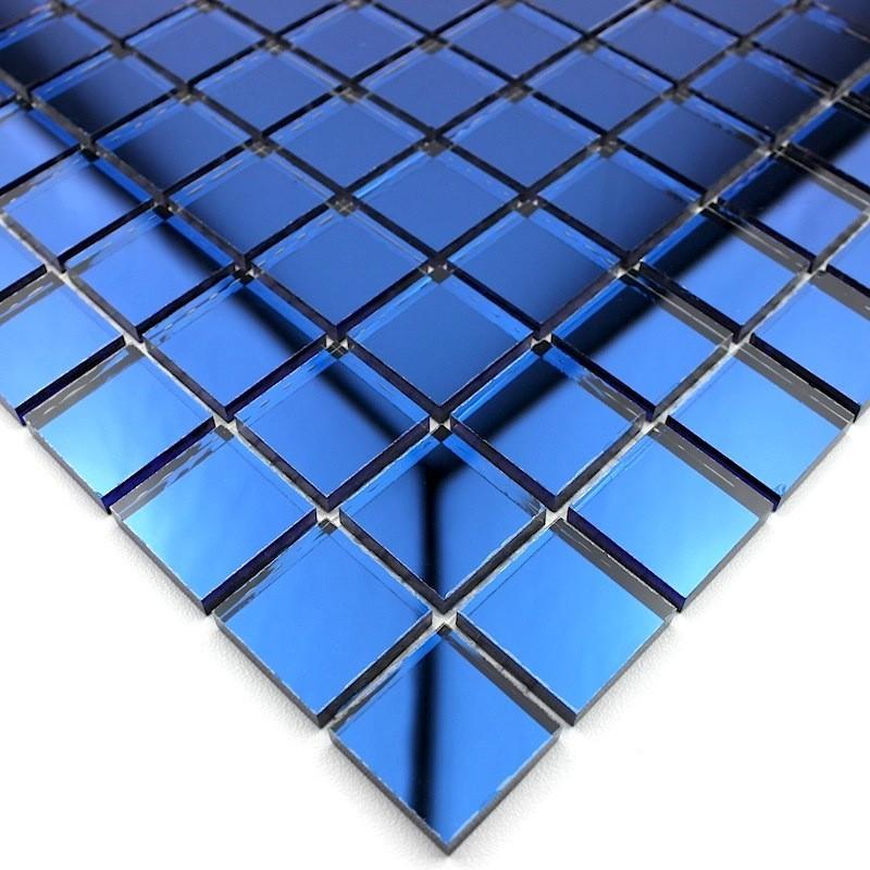 Mosaique verre miroir mur reflect marine carrelage for Mosaique miroir
