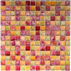 dalle mosaïque verre crédence cuisine zenith-orange