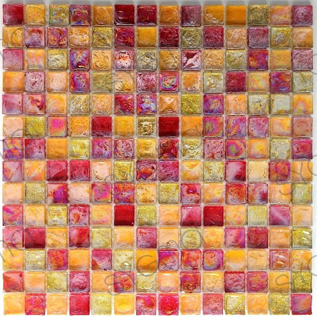 mosaique verre carrelage mur cuisine salledebain zenith orange carrelage. Black Bedroom Furniture Sets. Home Design Ideas
