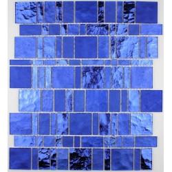 dalle mosaïque verre crédence cuisine pulp bleu