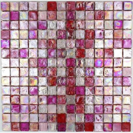 Carrelage Mosaique Salle De Bains Et Cuisine Verre Arezo Rose Carrelage Inox Fr