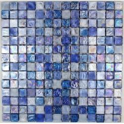 Azulejo mosaico de vidrio Arezo Bleu