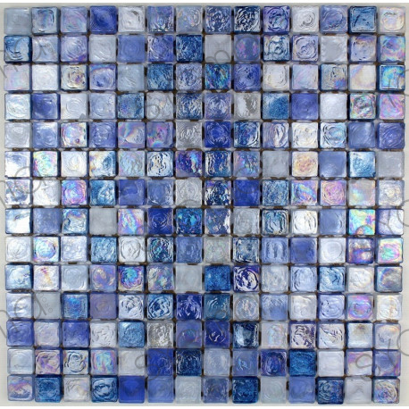 Salle De Bain Mosaique Verre Zenith Bleu Carrelage