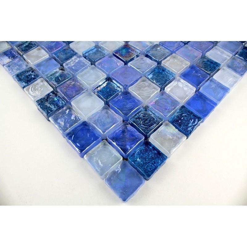 Salle d ebain mosaique verre zenith-bleu - carrelage-inox.fr