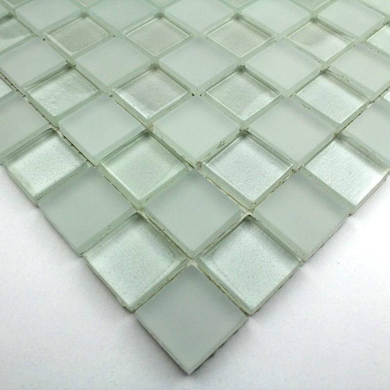 Mosaique verre cr dence cuisine verre mosa que douche kera - Plaque de mosaique salle de bain ...