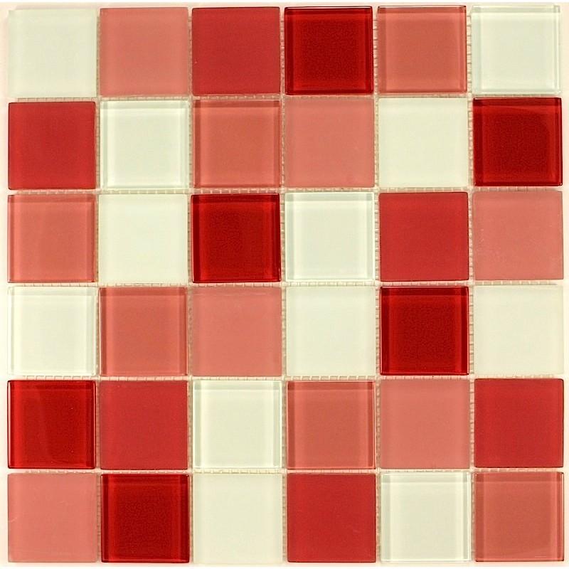 mosaique verre cr dence cuisine verre mosa que douche rouge. Black Bedroom Furniture Sets. Home Design Ideas
