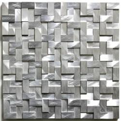 dalle mosaique aluminium carrelage cuisine crédence konik