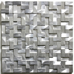 tile mosaic aluminum metal kitchen Sekret