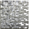 Mosaique aluminium carrelage 1 plaque BLEND GRIS