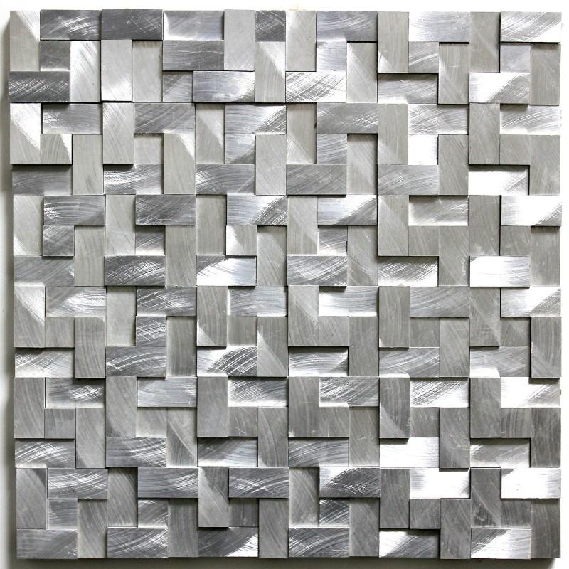 Dalle Mosaique Aluminium Carrelage Cuisine Crdence Konik
