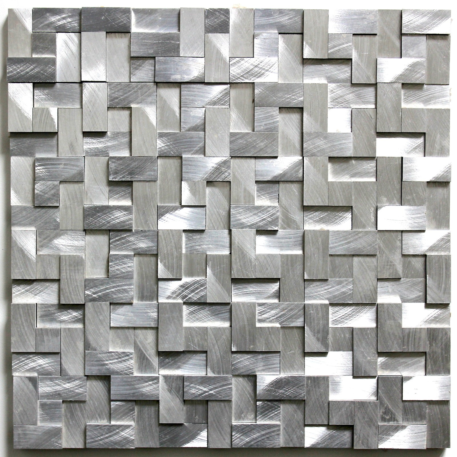 tile mosaic aluminum tile kitchen splashback konik carrelage inox